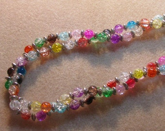 Colorful twisted necklace set