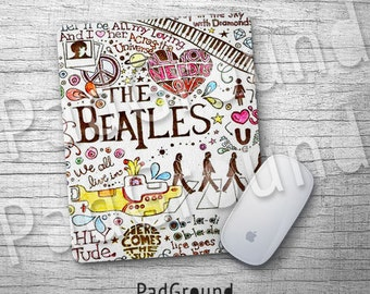 Beatles, Personalized Computer Mouse Pad, Abbey Road Mouse Pad, Natural Soft Fabric rubber backing Mouse Pad - BTC08