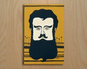The beards: Illustration on canvas