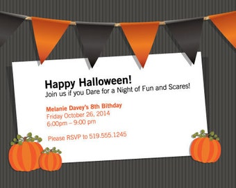Halloween Invitation-Printable Halloween Invitation