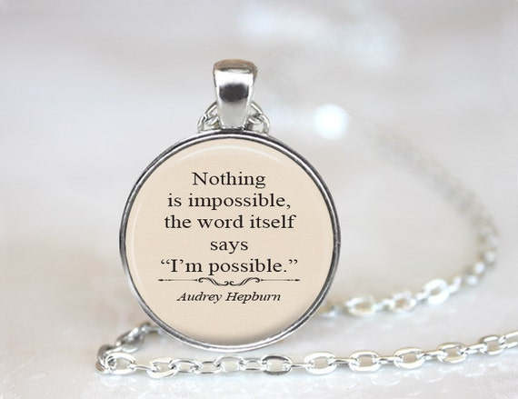 Items Similar To Nothing Is Impossible, Audrey Hepburn