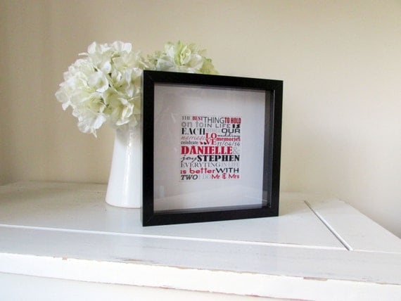 Wedding Gift Framed Art : Personalized Wedding Gift Framed Print Personalised Word Art Picture ...