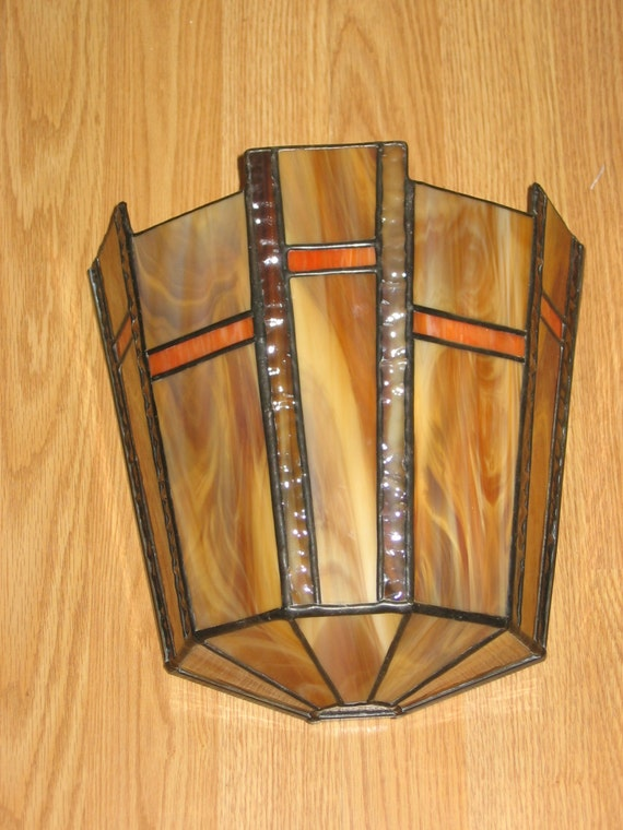 Leaded Glass Wall Sconces : Stained Glass Panel Wall Sconce PDF Instructions and Pattern