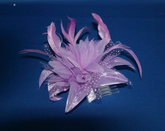 Lilac/ Purple Hair Fascinator on a Comb