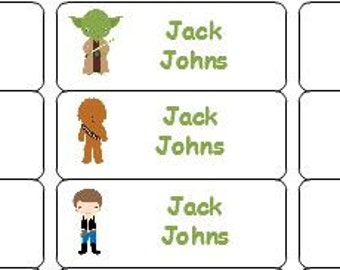 30 Personalized Waterproof Name Labels Star Wars Name Labels Stickers Vinyl Personalized Tags Daycare Labels Book Labels Waterproof Labels