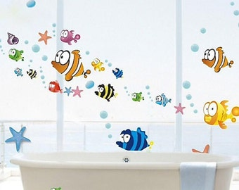 Ocean wall decal, Aquarium wall decal, Fish wall decal Nemo wall decal Kids wall decal Nursery wall decal Underwater wall decal