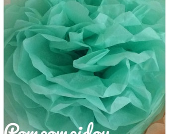 Pack of 2 PomPoms in green color tissue paper with water