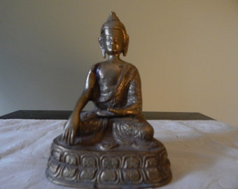 VIntage Brass Buddha Sculpture