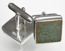 Cutty Sark  Original Copper Cufflinks set in Sterling Silver