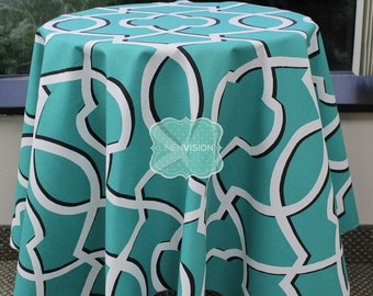 Tablecloth - Premier Prints - MORROW Damask - Jade - Choose Your Size - Table Linen Wedding Home Decor Dining Kitchen