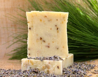 Organic Handmade Lavender Soap, Handmade Soap, Lavender Essential Oil, Natural Soap, Cold Process, Bath Soap, Vegan Soap, Lavender, Homemade