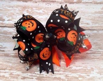 Lil Pumpkins Halloween Hairbow