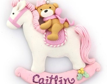 Pink Rocking Horse Ornament