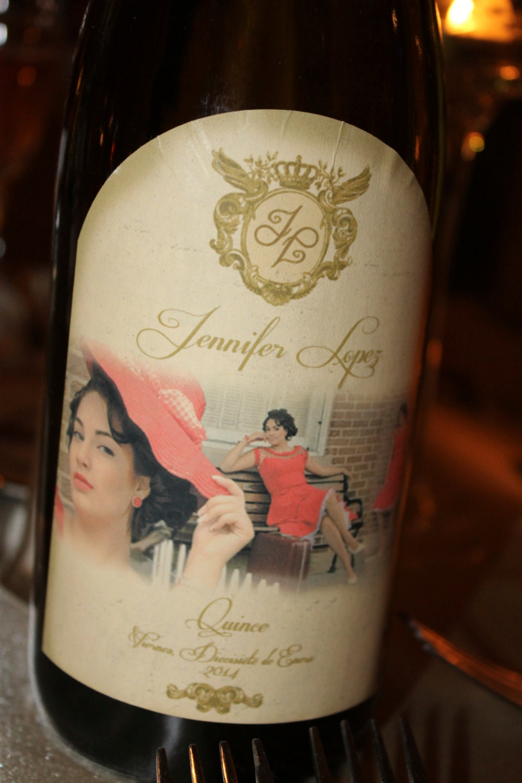 Custom Wine Bottle Printed Label 4-3/4 x 3-1/2 Quinceañera