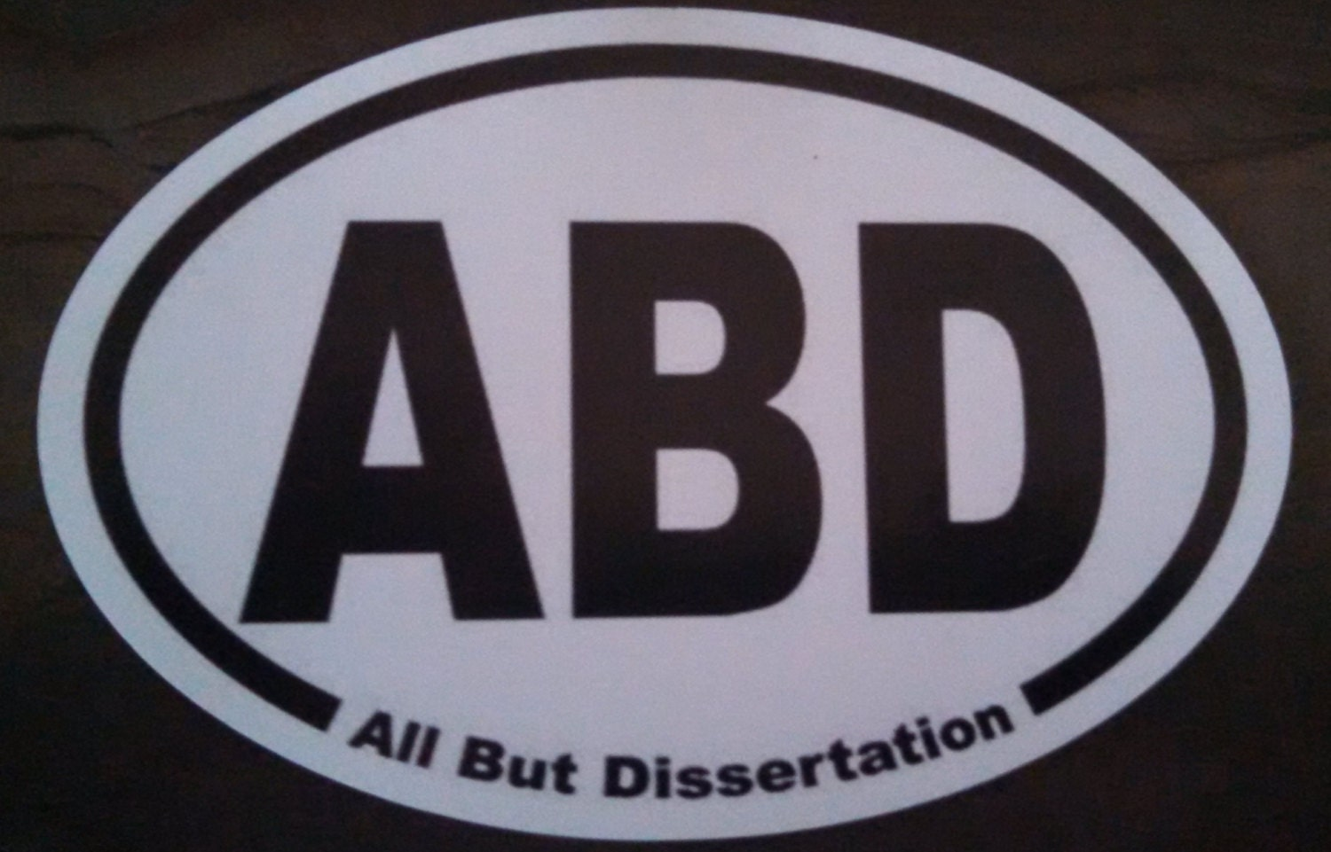 Dissertation or abd