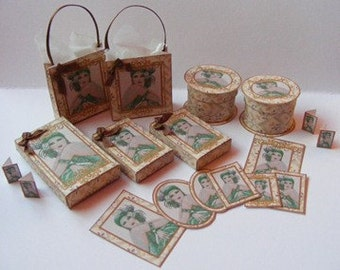 Dolls House Miniature Art Decco Boxes & Bags Download