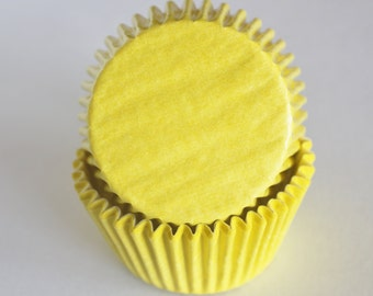 Bright Yellow Cupcake Papers