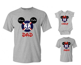 Personalized Disney Cruise Family Mickey and Minnie Mouse Vacation T-Shirt Disney Family Custom T-Shirt Christmas Shirt