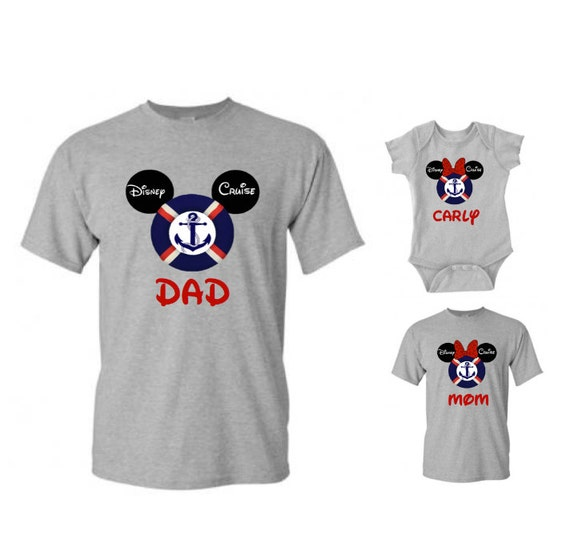Personalized Disney Cruise Family Mickey And Minnie Mouse