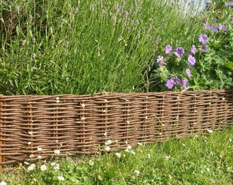 """Woven Willow Edging, 16""""H x 47""""L, Set of 2 pieces, WE-47-2"""
