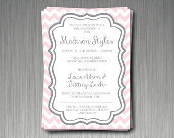 Chevron Invitations - Set of 20 - Customize for Any Occasion - Envelopes Included