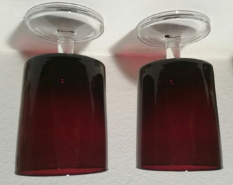 Luminarc Cavalier Ruby Red Wine Glasses