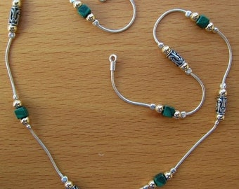 Eilat Stone Necklace // Two-Tone