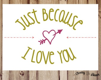 Thinking Of You Card - Just Because I Love You
