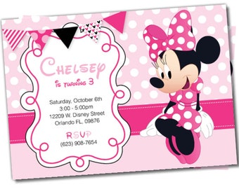 Minnie Mouse invitation, Minnie Mouse Party Package, Minnie Party, Minnie Mouse invite, Minnie Invitation, Minnie Mouse Party Package (#5)