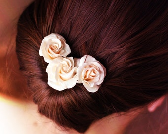 Rose on a hairpin (3 three pieces)