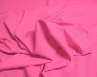 """Hot Pink 100% Polyester Classic Jet Set Knit Fabric 4 Way Stretch 55"""" Wide By The Yard"""