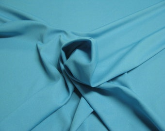 """Turquoise 100% Polyester Classic Jet Set Knit Fabric 4 Way Stretch 55"""" Wide By The Yard"""