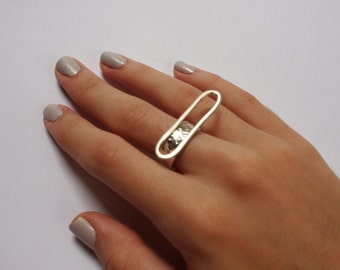 Modern Geometric Sterling Silver Ring