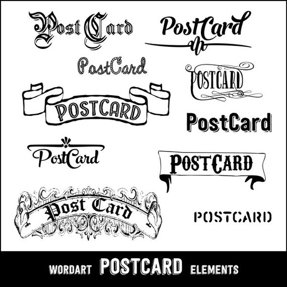 Vintage PostCard Design Elements - 69.7KB