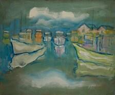 Ziad jundi peinture scénique 20 x 24 huile sur toile
