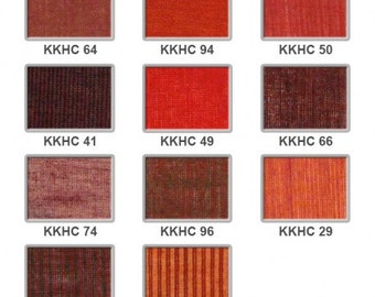 Handloomed cotton - reds to browns