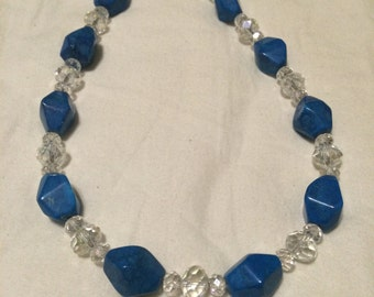 Clear and Blue Necklace