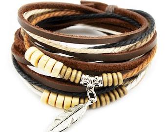 axy wrap bracelet TWIC13-1! Leather Bracelet