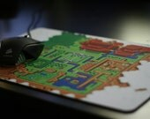 """Zelda: Link to the Past Hyrule Map Gaming Mouse Mat/Pad (Large) 10"""" x 15"""""""
