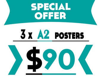 Buy 3 A2 Prints for 90 USD (Save 30 USD)