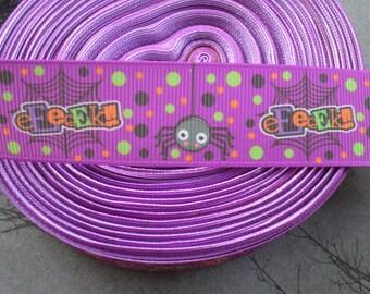 Spider Halloween Grosgrain Ribbon