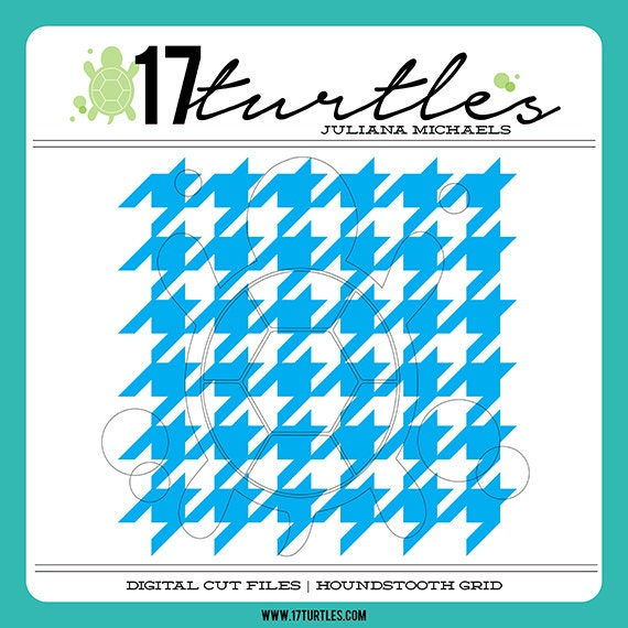 Houndstooth Grid Background Digital Cut File | Perfect for a variety of craft projects including paper crafting, scrapbooking and more.