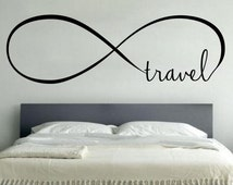 Infinity Travel - Wall Vinyl Decal Sticker Family Kidsoom Mural Motivational Quote Beautiful Forever Heart Hope Love Always Infinity Symbol