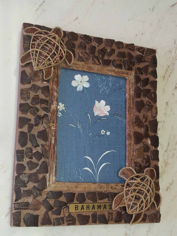 Bahamas handcrafted picture frame art home decor gift for for Ica home decor