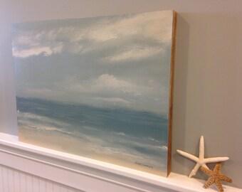 Beach, original landscape painting