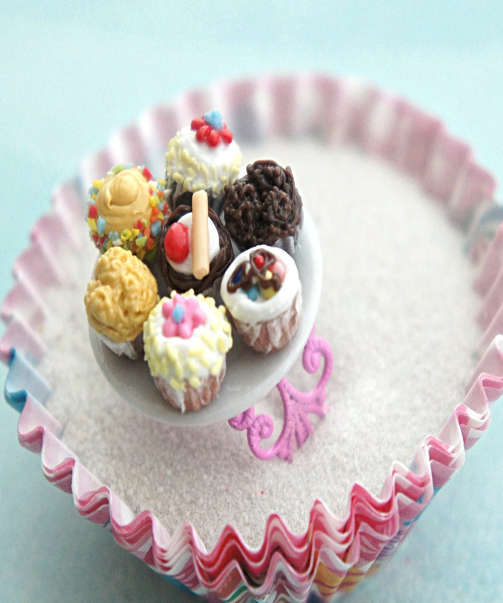 Cupcake Plate Ring Miniature Food Jewelry Cupcake Jewelry