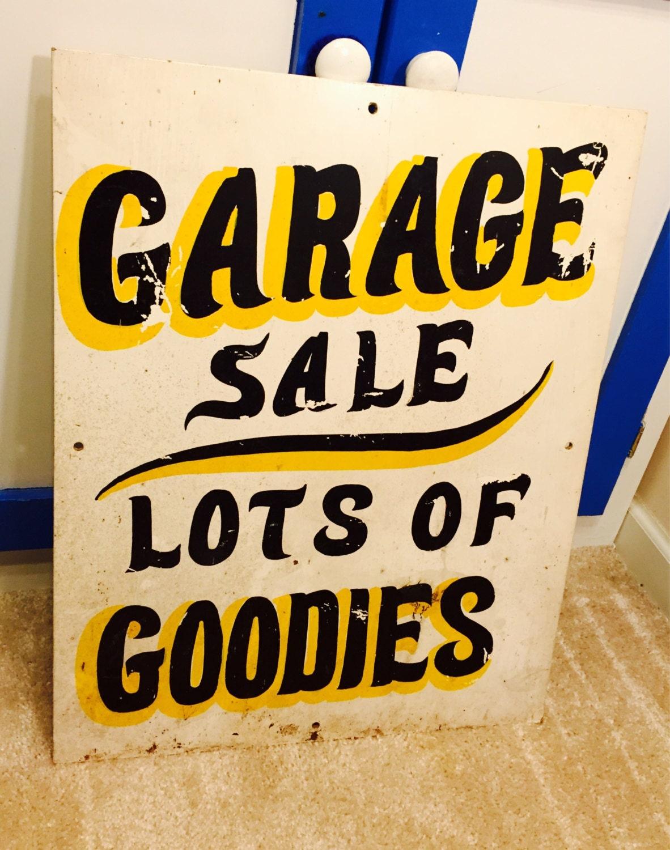 Vintage garage sale sign 20 x heavy for Vintage garage signs uk