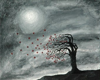 Full Moon Love - Acryllic on Canvas