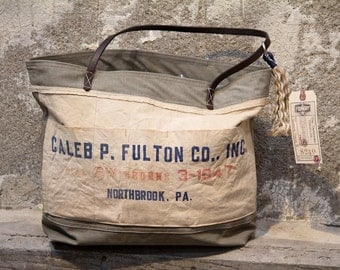 Caleb Fulton Co. Inc. Apron Upcycled Repurposed Tote Purse