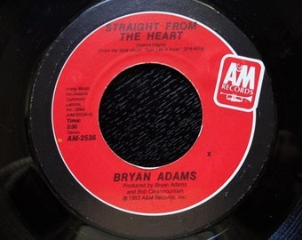 Bryan Adams Straight From The Heart 45 Rpm
